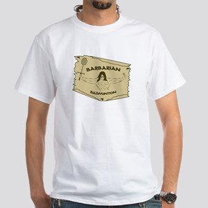 White Barbarian Badminton T-Shirt