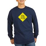 Baby Bump Below Navy Long Sleeve Dark T-Shirt
