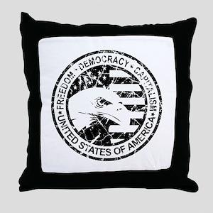 Freedom-Democracy Seal Throw Pillow