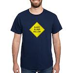 Baby Bump Below Navy Dark T-Shirt