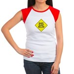 Baby Bump Below Women's Cap Sleeve T-Shirt