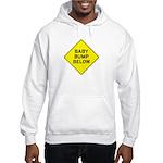 Baby Bump Below Hooded Sweatshirt