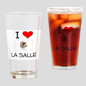 I Love LA SALLE Illinois Drinking Glass
