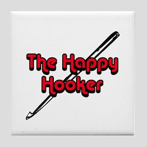 The Happy Hooker Tile Coaster