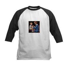 Mother and Daughter Knitting Kids Baseball Jersey