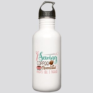 Sewing Coffee Chocolat Stainless Water Bottle 1.0L