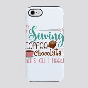 Sewing Coffee Chocolate that&# iPhone 7 Tough Case