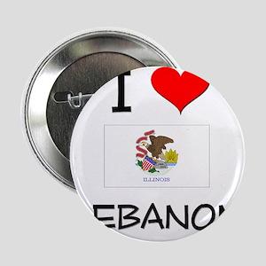 "I Love LEBANON Illinois 2.25"" Button"