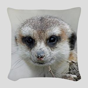 Meerkat001 Woven Throw Pillow
