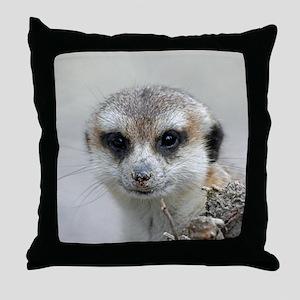Meerkat001 Throw Pillow