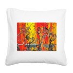 Space Cats Square Canvas Pillow