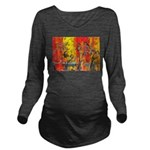 Space Cats Long Sleeve Maternity T-Shirt