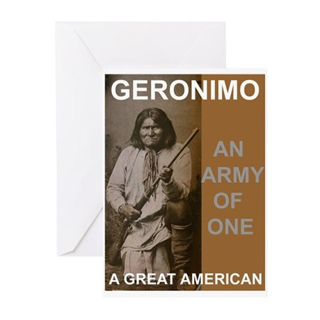 Geronimo Great American Greeting Cards (Package of