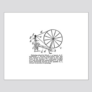 Yarn - Vintage Spinning Wheel Small Poster