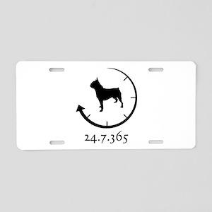 Boston Terrier Aluminum License Plate