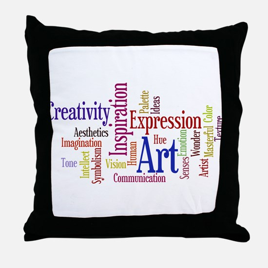 Artists Word Cloud, Creativity, Expression! Throw