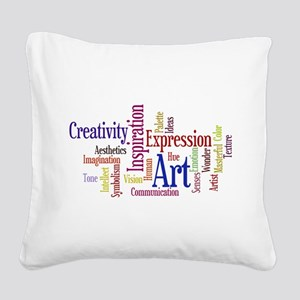 Artists Word Cloud, Creativity, Expression! Square