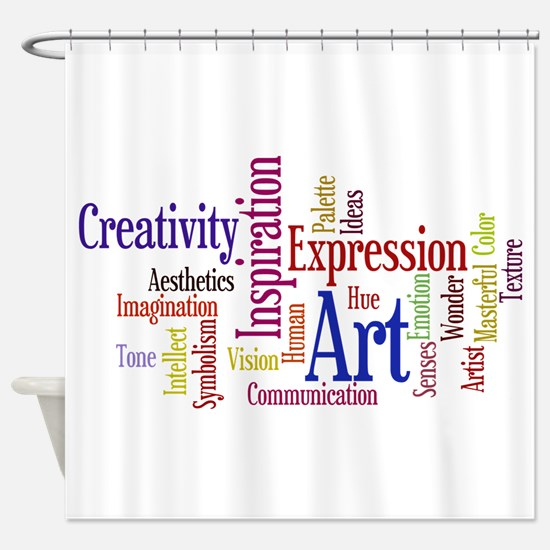 Artists Word Cloud, Creativity, Expression! Shower