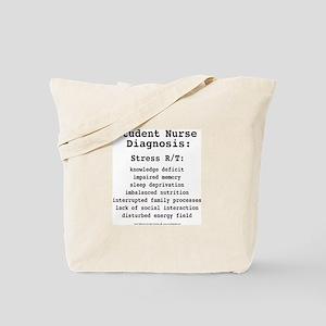 Student Nurse Diagnosis Tote Bag