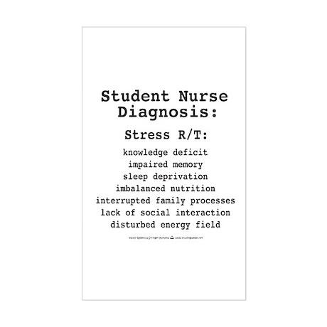 Student Nurse Diagnosis Rectangle Sticker