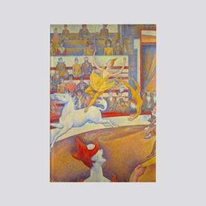 Le Cirque by Georges Seurat Rectangle Magnet