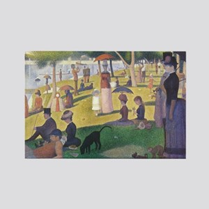 Georges Seurat painting Rectangle Magnet
