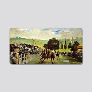 Edouard Manet - Races at Lo Aluminum License Plate