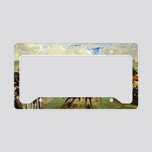 Edouard Manet - Races at Long License Plate Holder