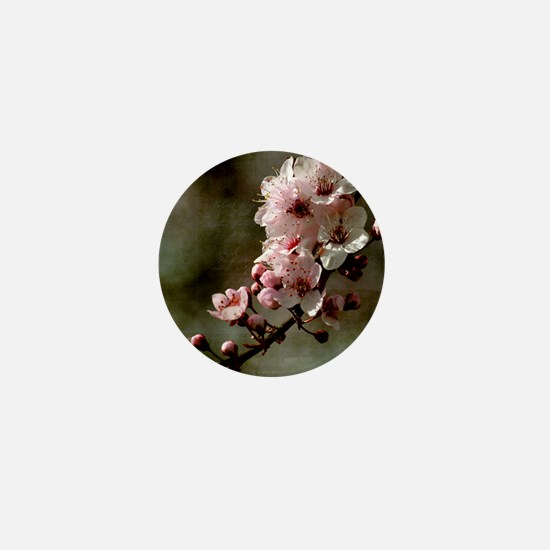 Cherry Blossom Flowers Mini Button