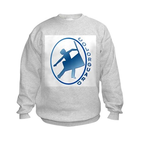 Blue Silouette Kids Sweatshirt