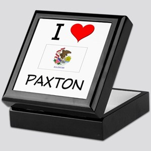 I Love PAXTON Illinois Keepsake Box