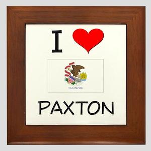 I Love PAXTON Illinois Framed Tile