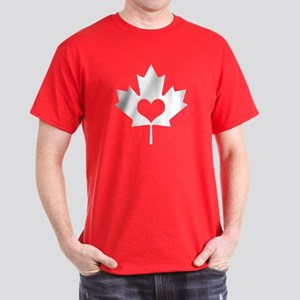 Canadian Maple Leaf and Heart T-Shirt