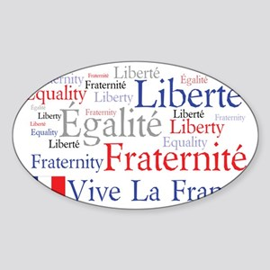 Vive La France Sticker (Oval)