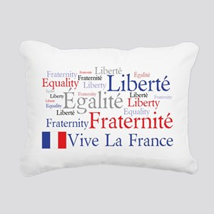Vive La France Rectangular Canvas Pillow