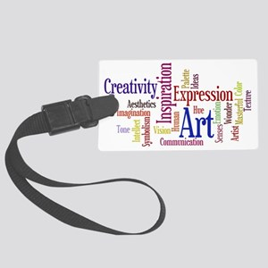 Artists Word Cloud, Creativity,  Large Luggage Tag