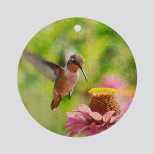 Hummingbird flight Ornament (Round)