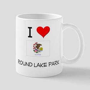 I Love ROUND LAKE PARK Illinois Mugs