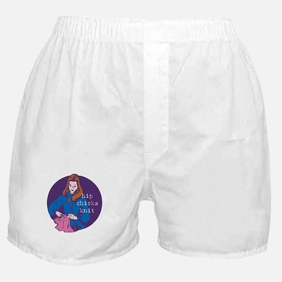 Hip Chicks Knit Boxer Shorts