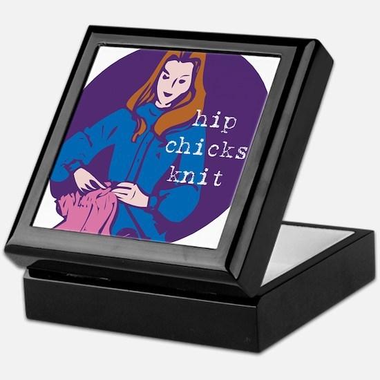 Hip Chicks Knit Keepsake Box