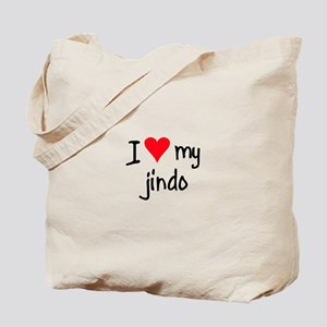 I LOVE MY Jindo Tote Bag