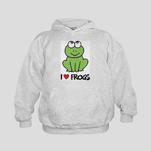I Love Frogs Kids Hoodie
