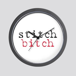 Stitch Bitch Wall Clock