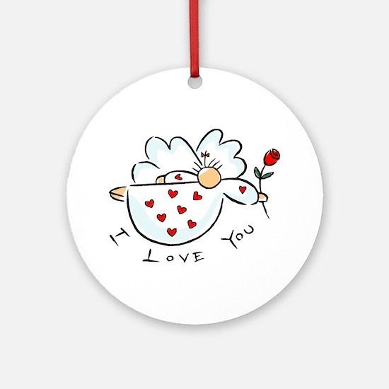 I love you Angel Ornament (Round)
