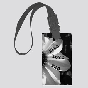 Live Love Run by Vetro Jewelry & Large Luggage Tag