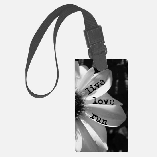 Live Love Run by Vetro Jewelry & Luggage Tag