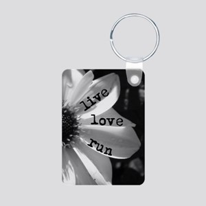 Live Love Run by Vetro Jew Aluminum Photo Keychain