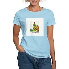 Knitting Gnome Women's Pink T-Shirt