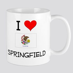 I Love SPRINGFIELD Illinois Mugs