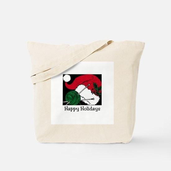 Knitting - Happy Holidays Tote Bag